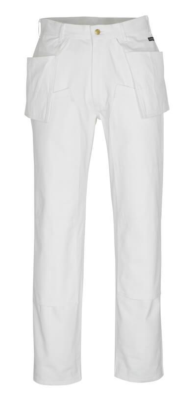 00538-630-06 Bukser med knæ- og hængelommer - hvid
