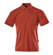 00783-260-02 Poloshirt med brystlomme - rød