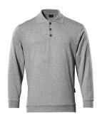 00785-280-08 Polosweatshirt - grå-meleret