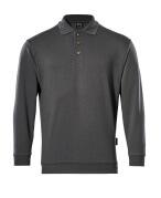00785-280-18 Polosweatshirt - mørk antracit