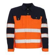 00909-860-141 Jakke - hi-vis orange/marine