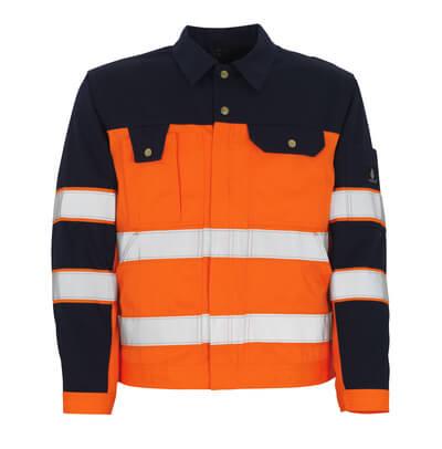 00909-860-141 Jakke - hi-vis orange/marine