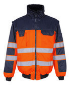 00920-660-141 Pilotjakke - hi-vis orange/marine