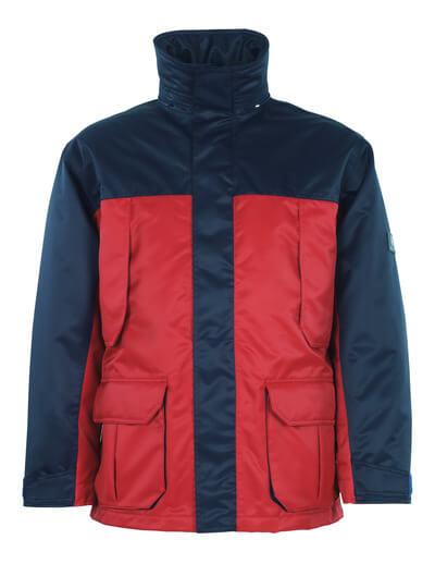 00930-650-21 Parka - rød/marine