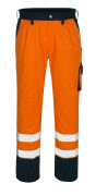 00979-860-141 Bukser med knælommer - hi-vis orange/marine