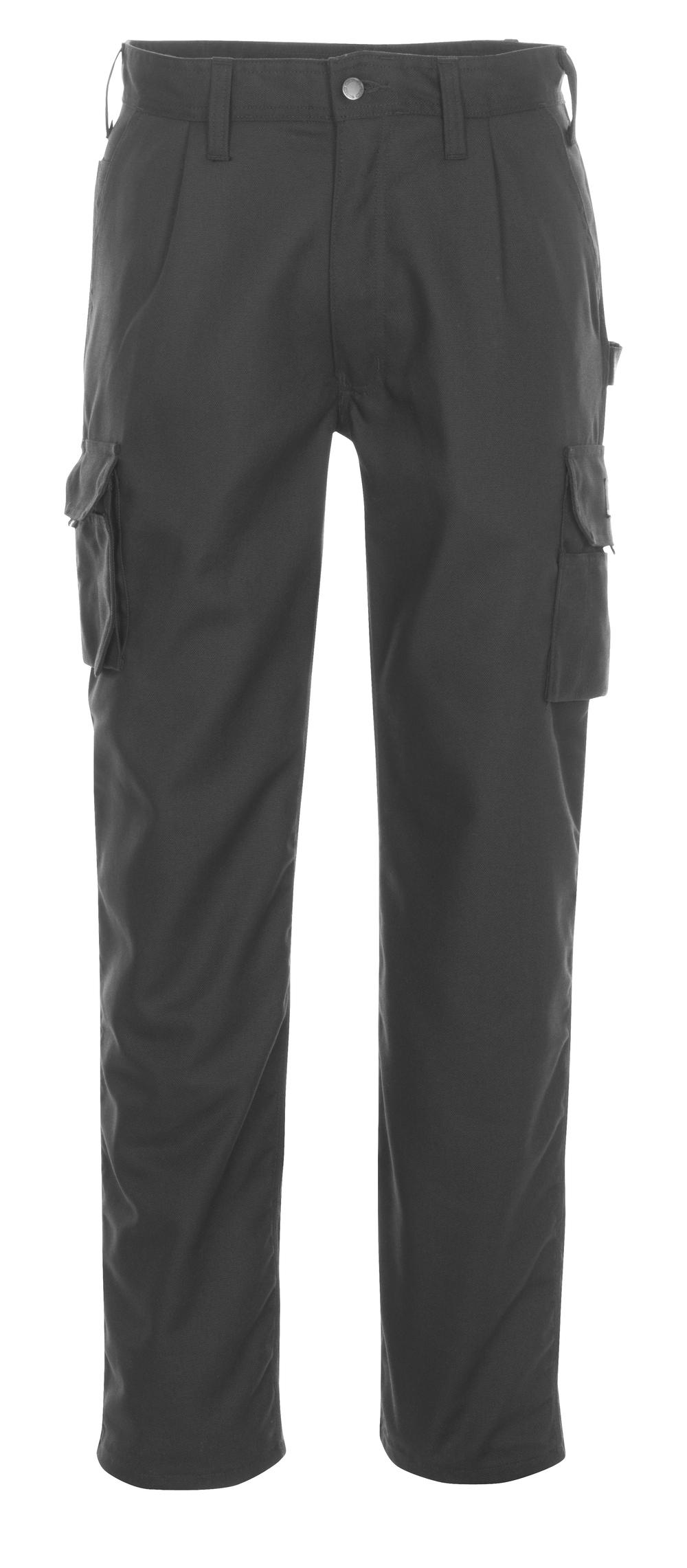 03079-010-09 Bukser med lårlommer - sort