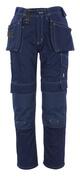 06131-630-01 Bukser med knæ- og hængelommer - marine