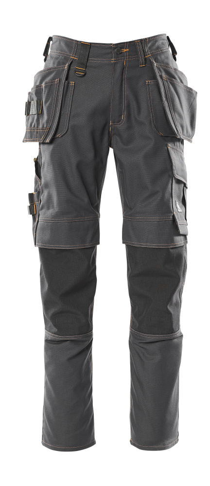 06231-010-09 Bukser med knæ- og hængelommer - sort