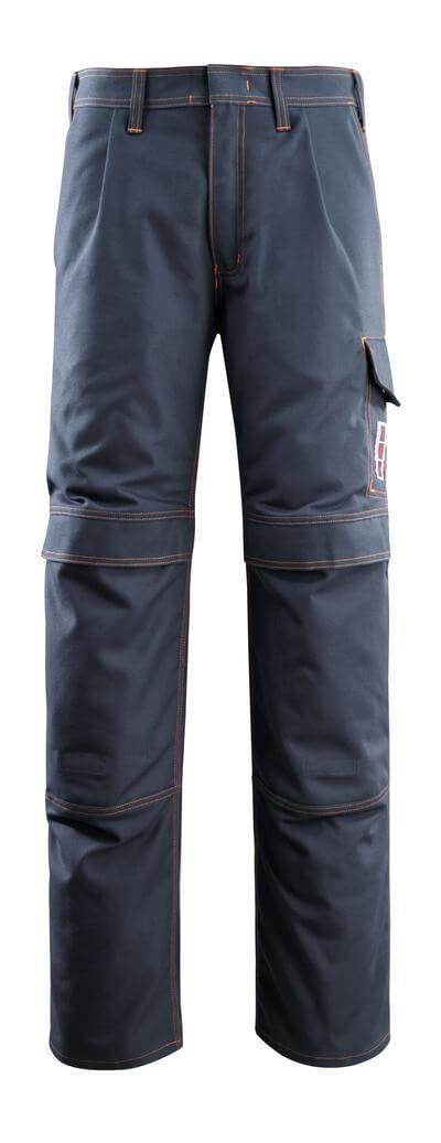 06679-135-010 Bukser med knælommer - mørk marine