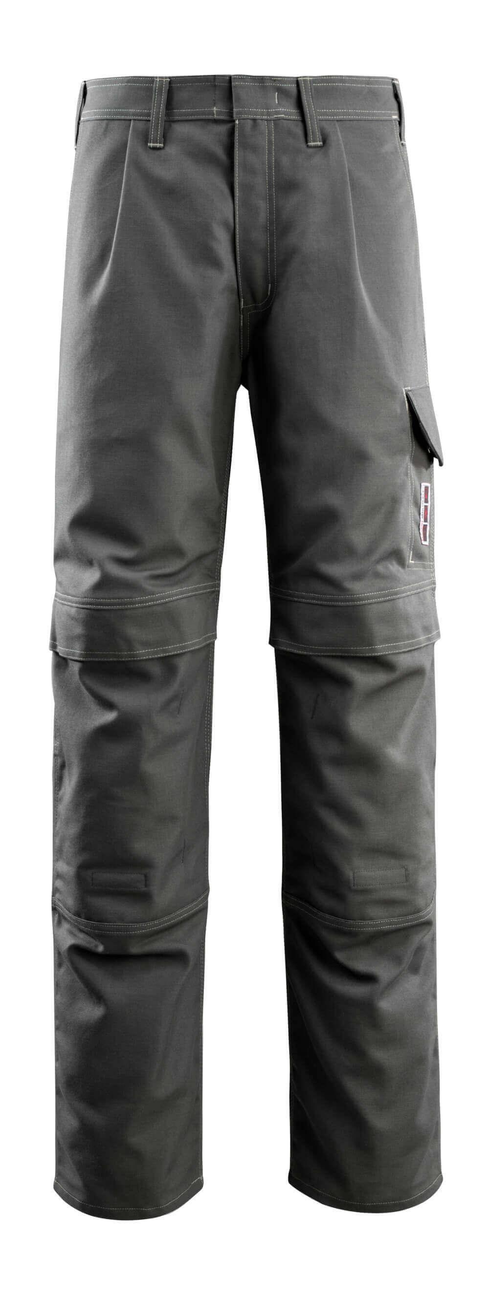 06679-135-18 Bukser med knælommer - mørk antracit