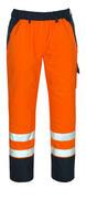 07090-880-141 Overtræksbuks med knælommer - hi-vis orange/marine