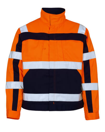 07109-860-141 Jakke - hi-vis orange/marine