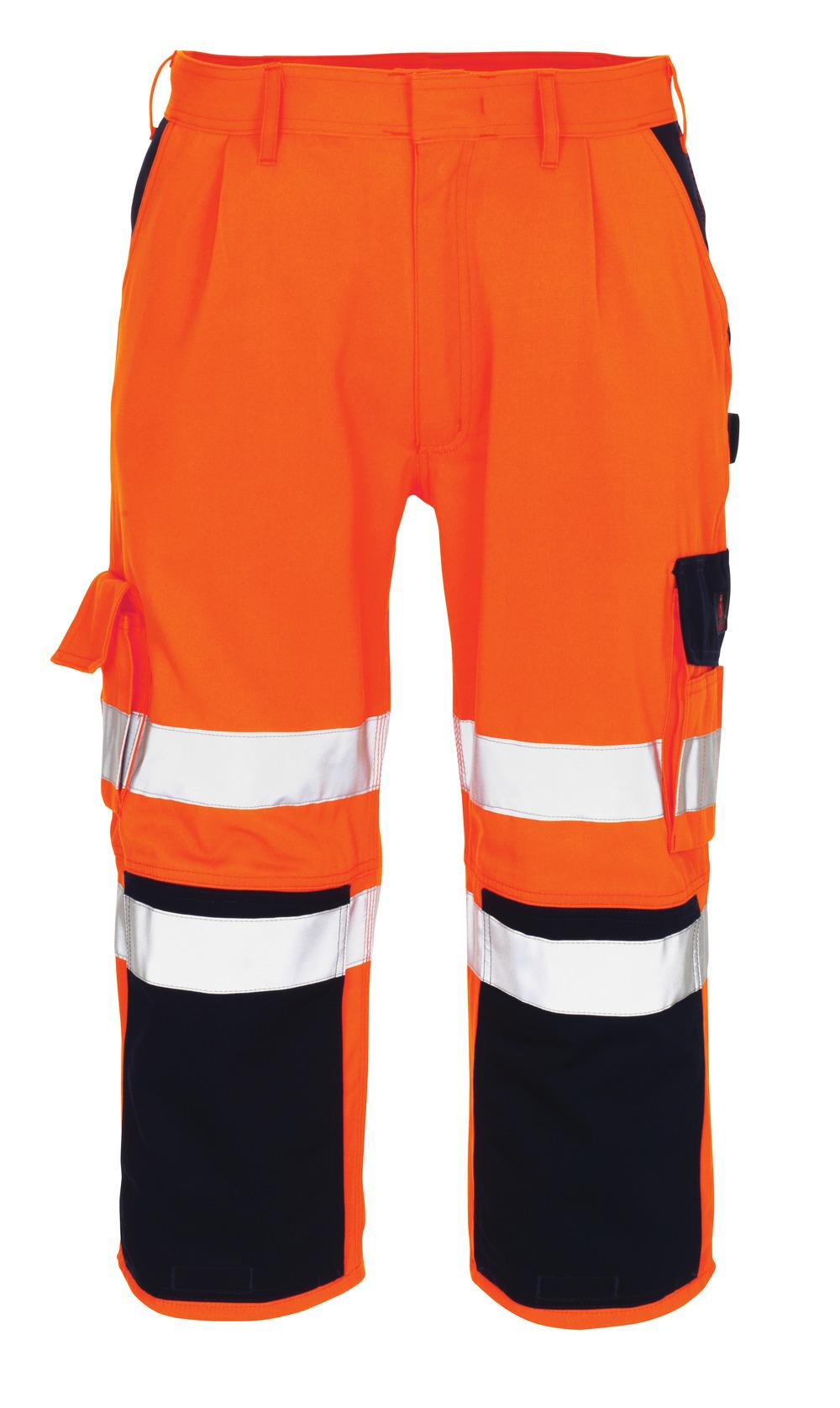 07149-860-141 Knickers med knælommer - hi-vis orange/marine