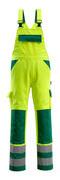 07169-470-1703 Overall med knælommer - hi-vis gul/grøn