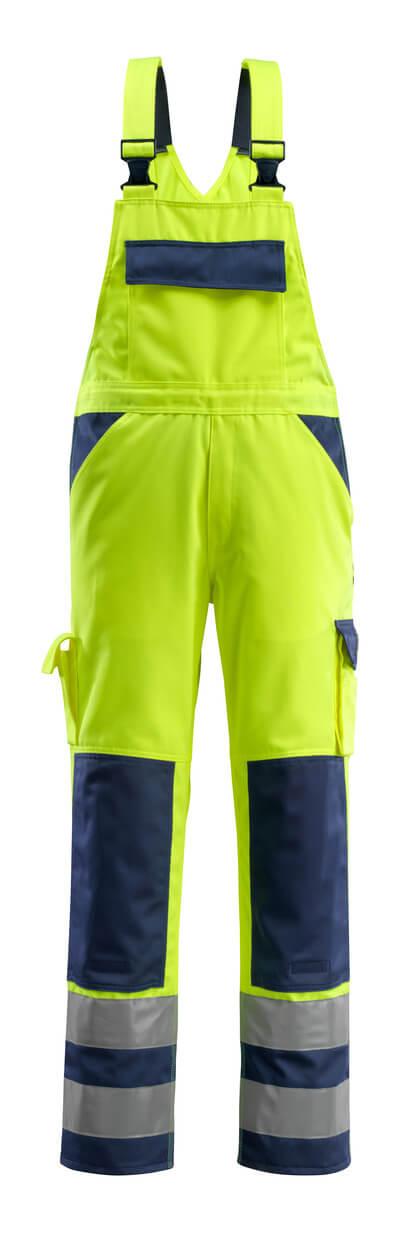 07169-470-171 Overall med knælommer - hi-vis gul/marine