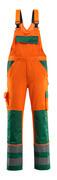 07169-860-1403 Overall med knælommer - hi-vis orange/grøn