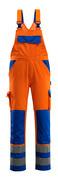 07169-860-1411 Overall med knælommer - hi-vis orange/kobolt