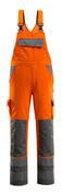 07169-860-14888 Overall med knælommer - hi-vis orange/antracit