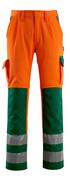 07179-860-1403 Bukser med knælommer - hi-vis orange/grøn