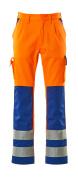 07179-860-1411 Bukser med knælommer - hi-vis orange/kobolt