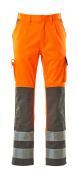 07179-860-14888 Bukser med knælommer - hi-vis orange/antracit