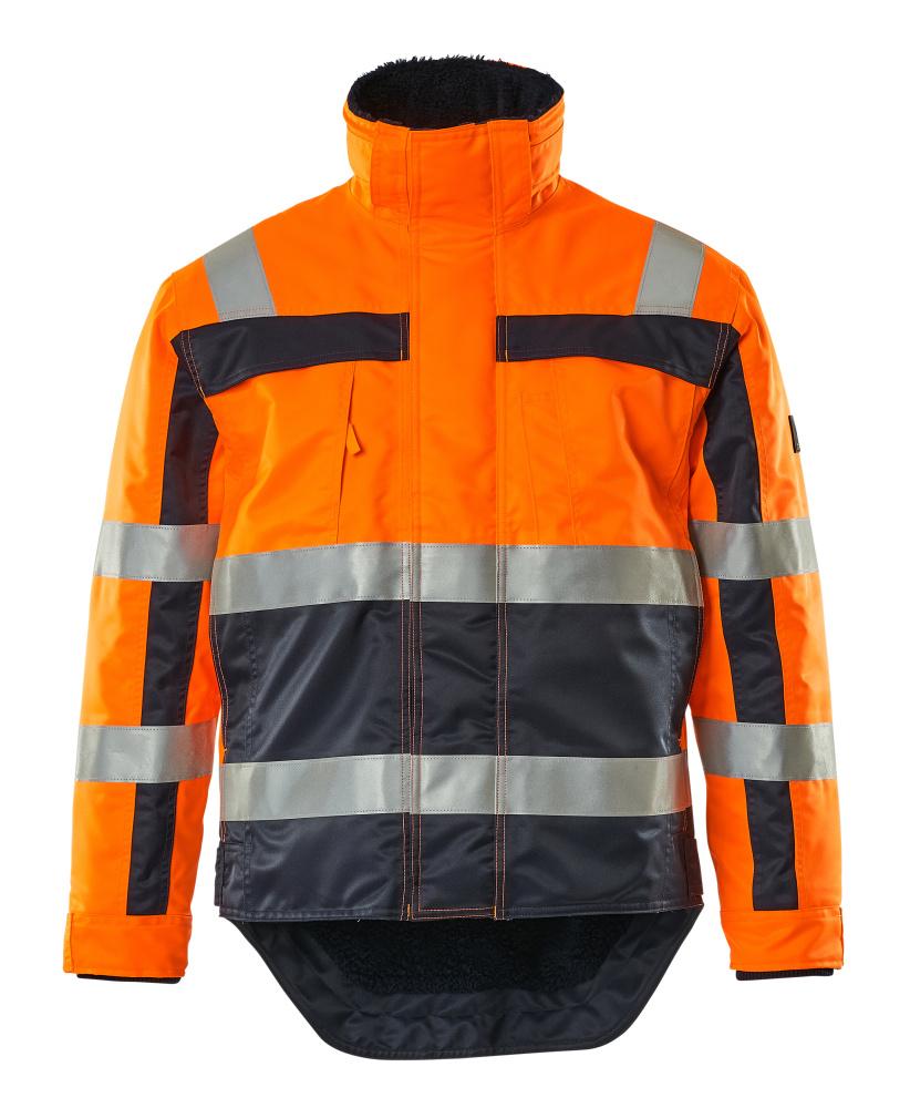 07223-880-141 Vinterjakke - hi-vis orange/marine