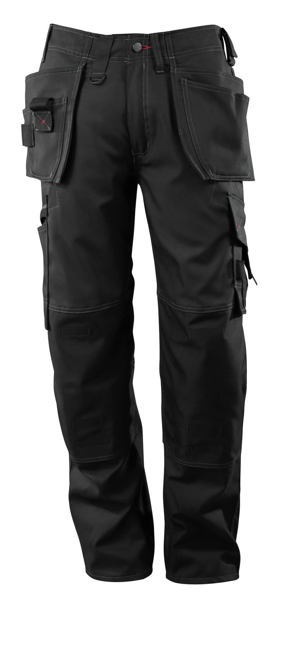 07379-154-09 Bukser med knæ- og hængelommer - sort