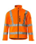 08005-159-14 Softshell jakke - hi-vis orange