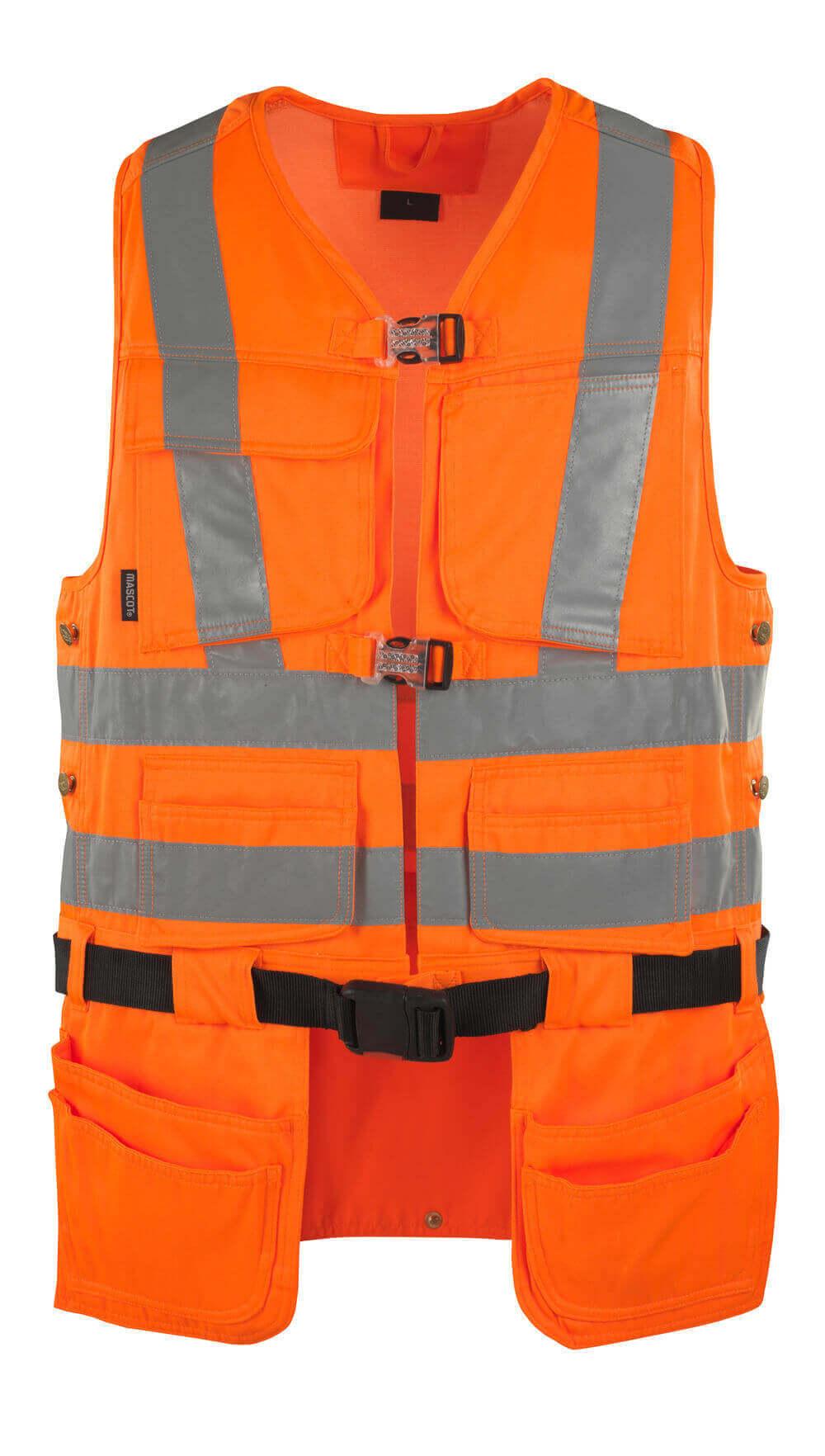 08089-860-14 Værktøjsvest - hi-vis orange