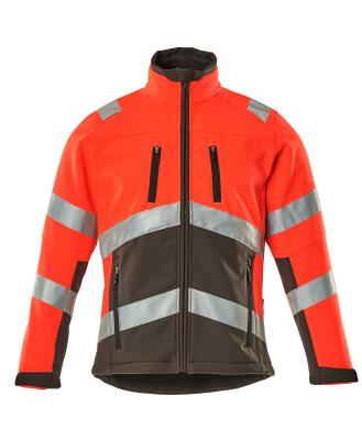 09001-183-A49 Softshell jakke - hi-vis rød/mørk antracit