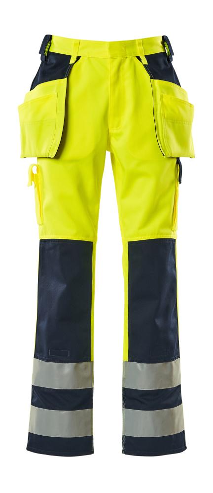 09131-470-171 Bukser med hængelommer - hi-vis gul/marine