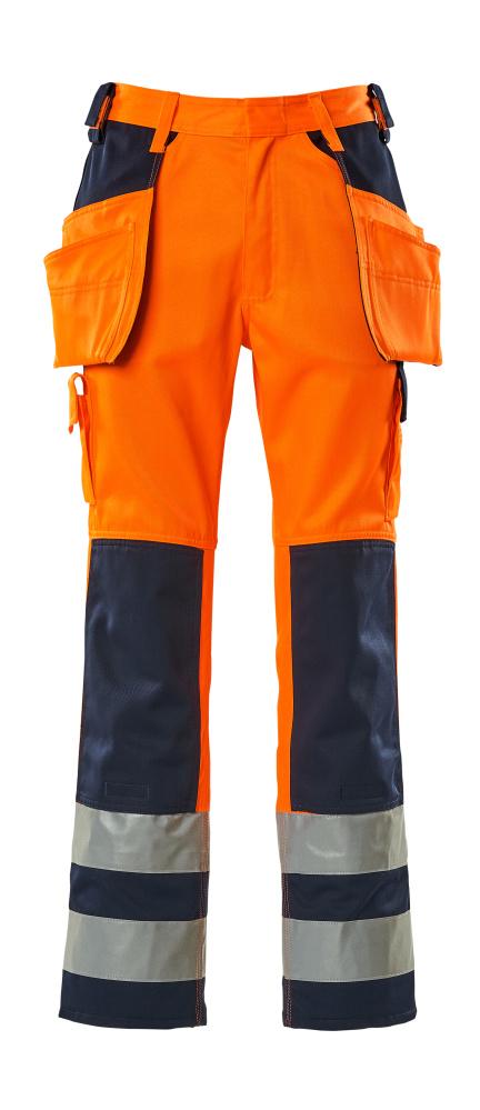 09131-860-141 Bukser med hængelommer - hi-vis orange/marine