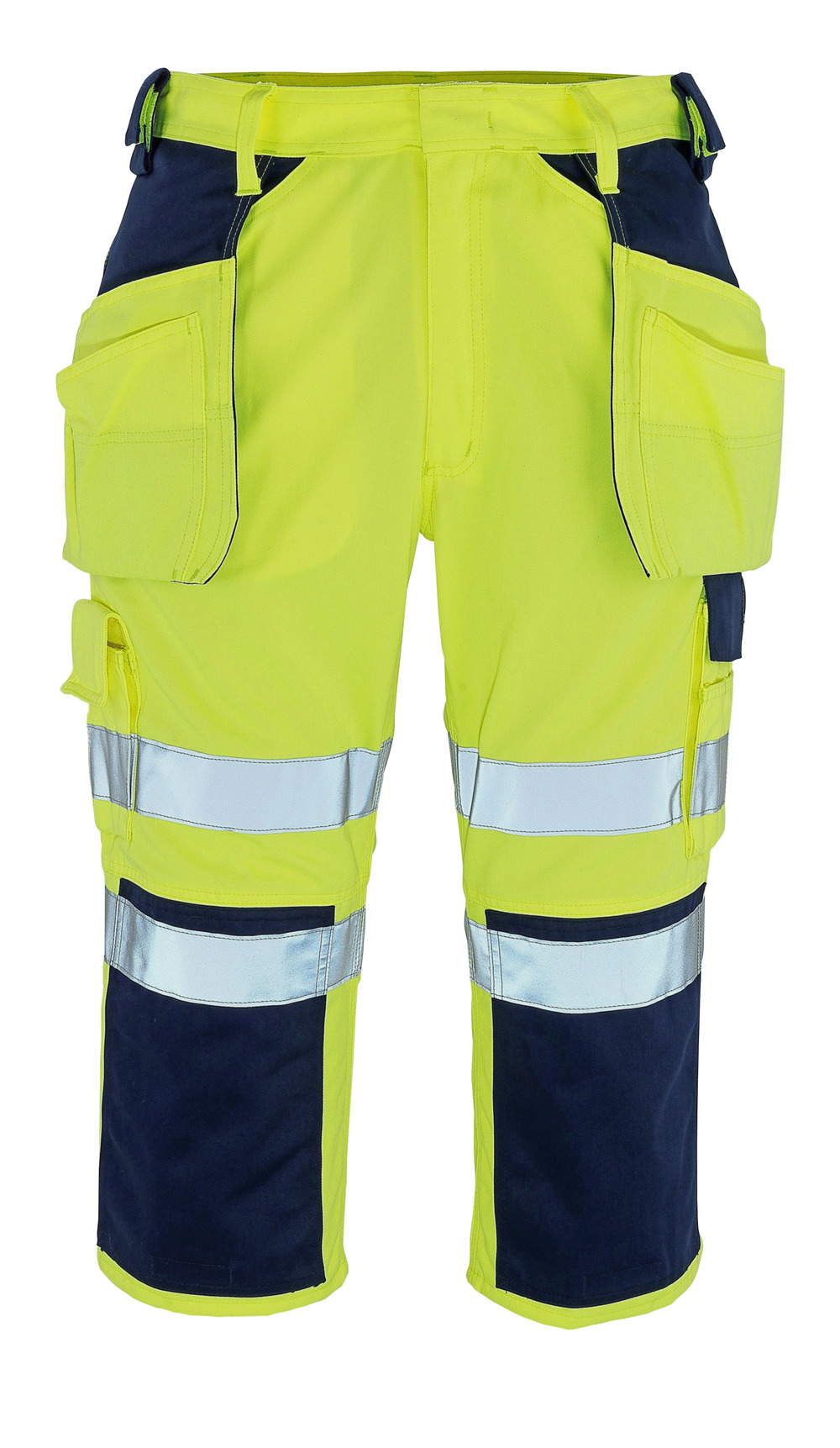 09149-470-171 Knickers med knæ- og hængelommer - hi-vis gul/marine