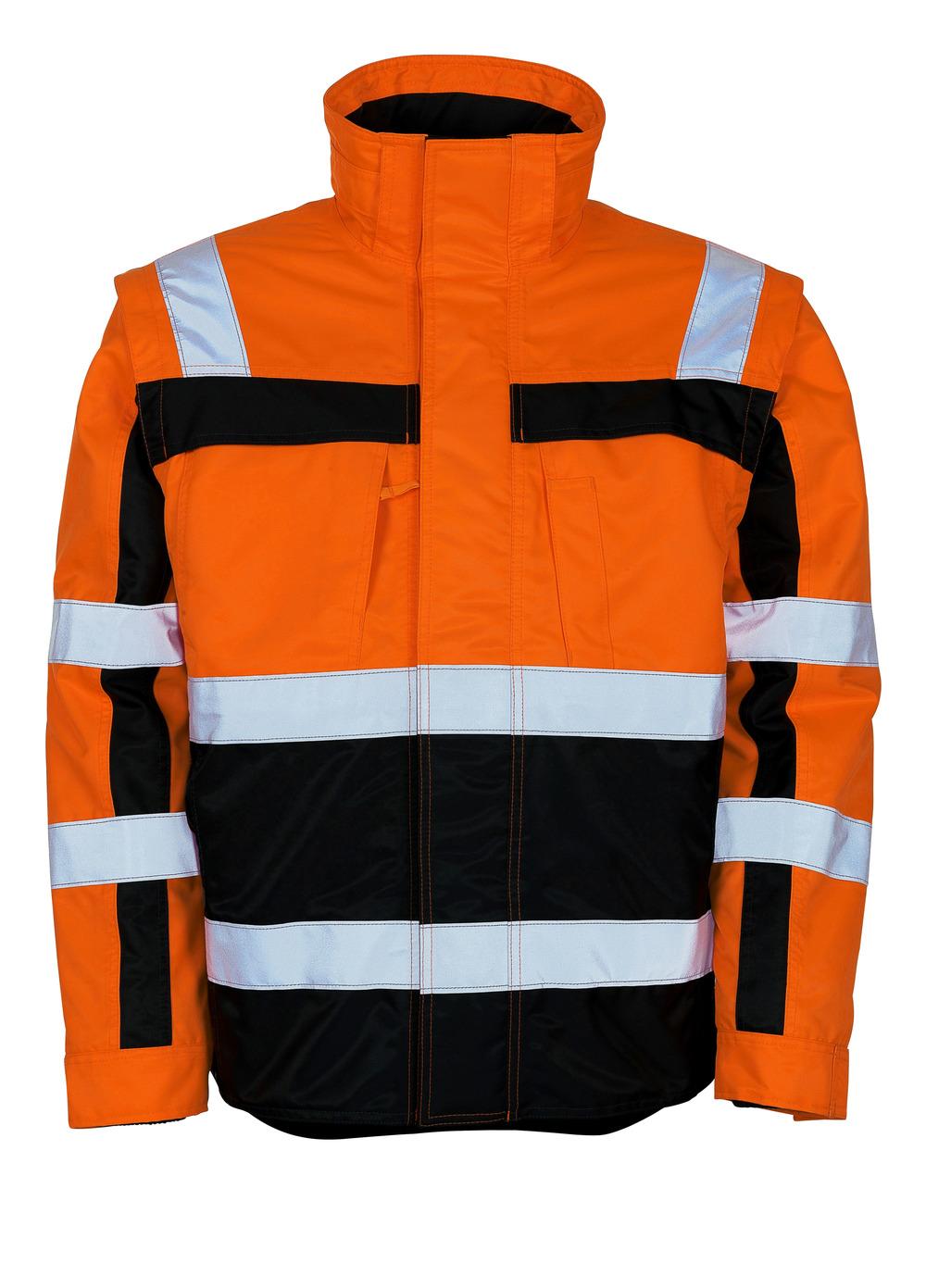 09335-880-141 Vinterjakke - hi-vis orange/marine