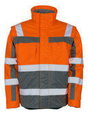09335-880-14888 Vinterjakke - hi-vis orange/antracit
