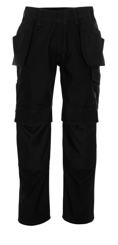 10131-154-010 Bukser med knæ- og hængelommer - mørk marine