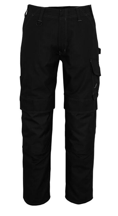 10179-154-010 Bukser med knælommer - mørk marine