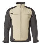 12002-149-5509 Softshell jakke - lys kaki/sort