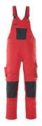 12069-203-0209 Overall med knælommer - rød/sort