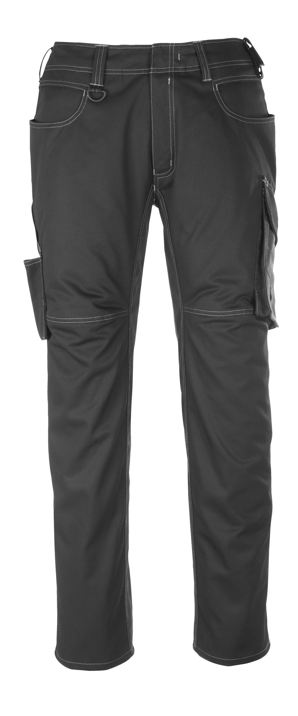 12079-203-0918 Bukser med lårlommer - sort/mørk antracit