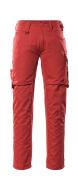 12579-442-0209 Bukser med lårlommer - rød/sort