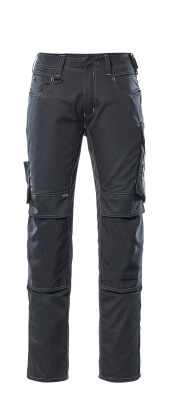 12679-442-0918 Bukser med knælommer - sort/mørk antracit