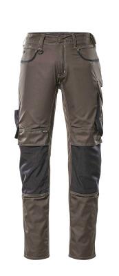 13079-230-1809 Bukser med knælommer - mørk antracit/sort