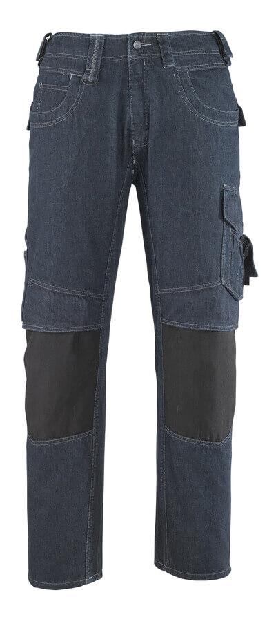 13279-207-B52 Jeans med knælommer - denimblå