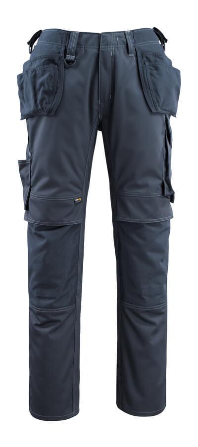 14131-203-010 Bukser med knæ- og hængelommer - mørk marine