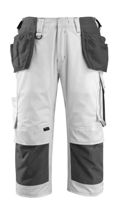 14349-442-0618 Knickers med knæ- og hængelommer - hvid/mørk antracit