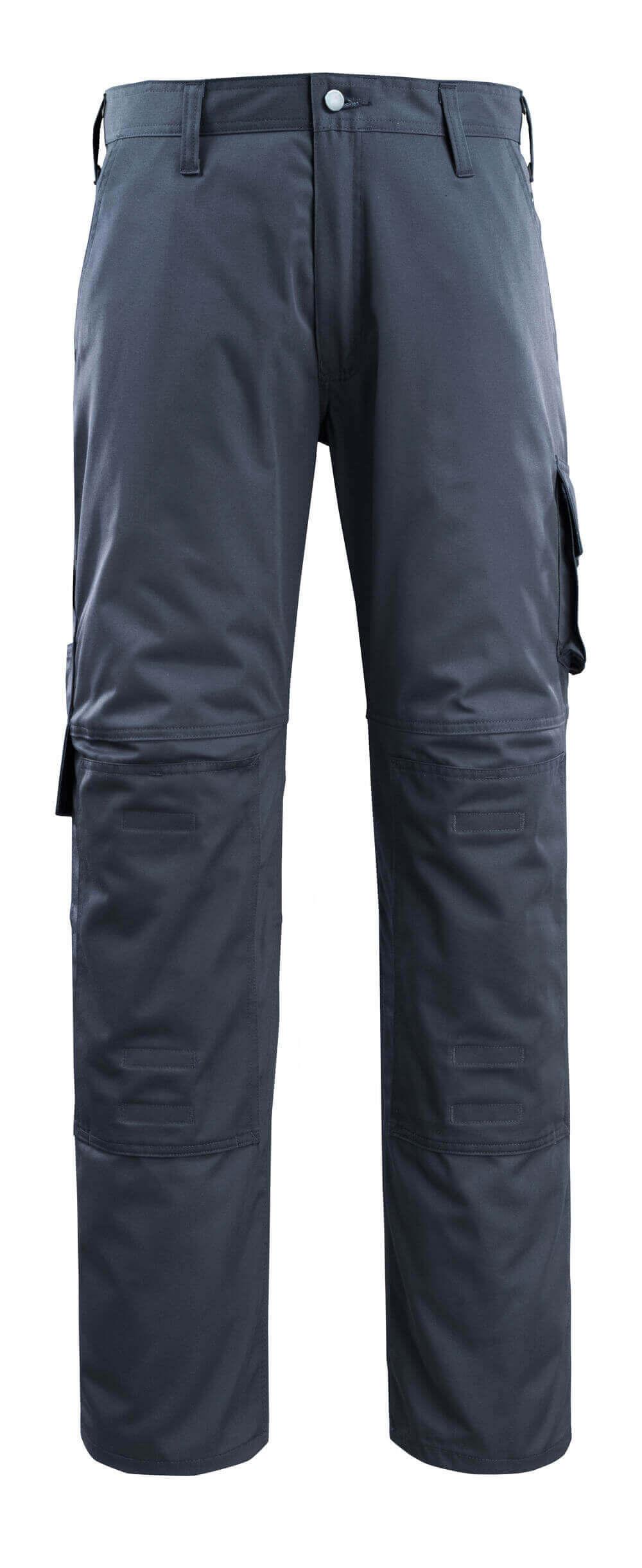 14379-850-010 Bukser med knælommer - mørk marine