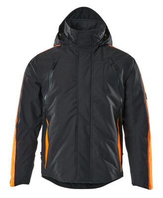 15035-222-01014 Vinterjakke - mørk marine/hi-vis orange