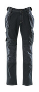 15131-207-86 Jeans med hængelommer - mørkeblå denim