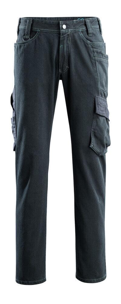 15279-207-86 Jeans med lårlommer - mørkeblå denim